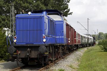 Wall Mural - Alte Diesellokomotive der Landeseisenbahn Lippe