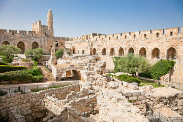 Tower of David in Jerusalem, Israel