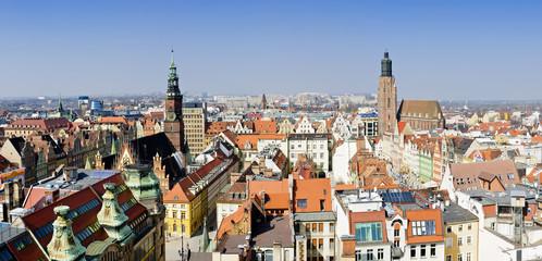 panorama wroclaw, poland