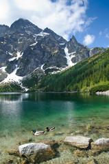 Fototapete - Morskie Oko mountain lake in Polish Tatra mountains