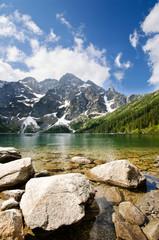 Wall Mural - Morskie Oko lake in Polish part of Tatra mountains