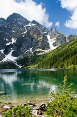 Fototapete - Polish Tatra mountains Morskie Oko lake