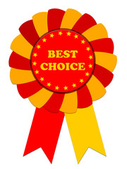 Ribbon Award labeled the best choice