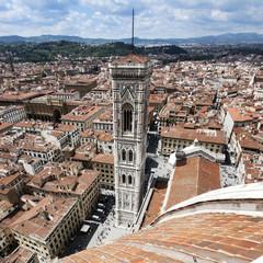 Wall Mural - Florence - Campanile vu du Duomo