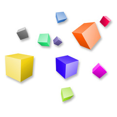 Cubes colorés 3D