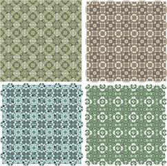 Big vintage plaid patterns set vector background