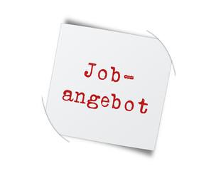 Job-Angebot