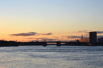 Sunset over Saint Petersburg