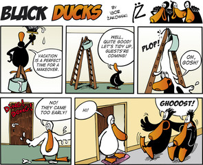Fotorolgordijn Comics Black Ducks Comics episode 73