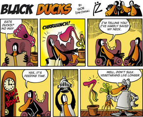Door stickers Comics Black Ducks Comics episode 75