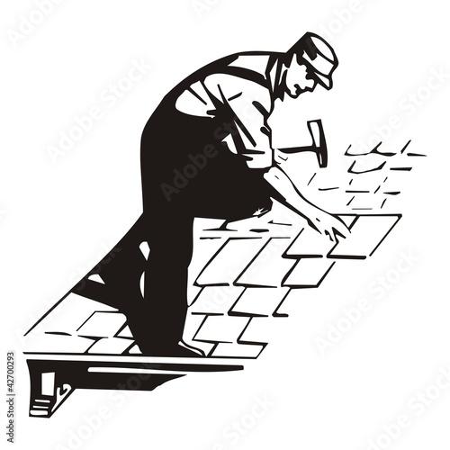 Dachdecker symbol  Dachdecker ~ Handwerker