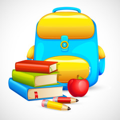 Book Bag and Apple