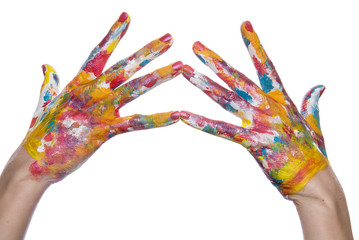 color painted woman hand 1