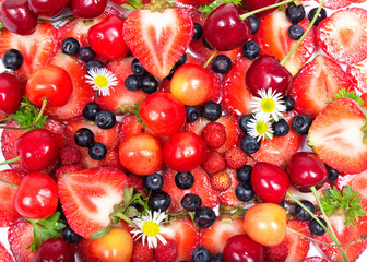 Close up image of berries, fruit background