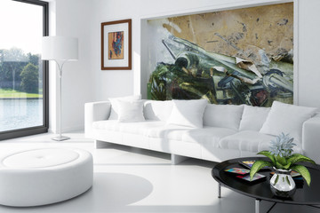 White Room with Artwork