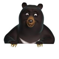 Spoed Fotobehang Sweet Monsters black bear