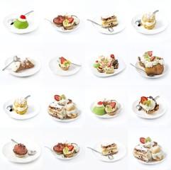 set di dolci vari