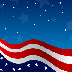 4th of july background - vector