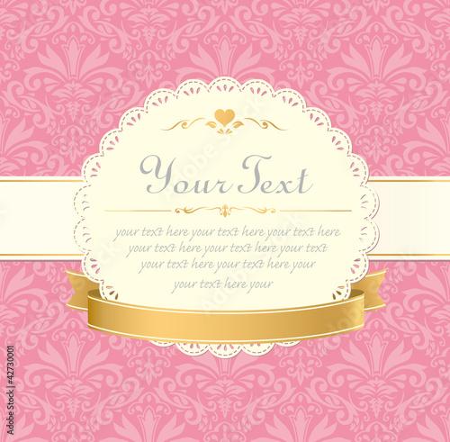 Invitation vintage label vector frame pink stock image and invitation vintage label vector frame pink stopboris Images