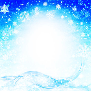 Abstract winter backgrounds with falling snowflakes