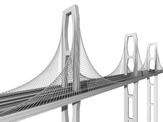 Canvas Prints Bridge bridge on a white background