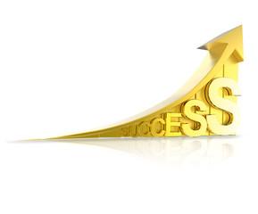 golden success arrow