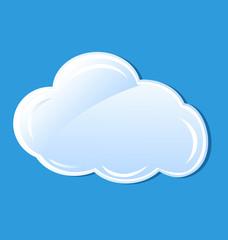 Cloud icon element vector