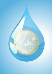 Goutte d'eau - coût