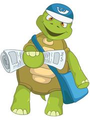 Funny Turtle. Postman.