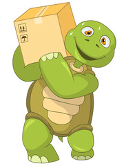 Funny Turtle. Worker.