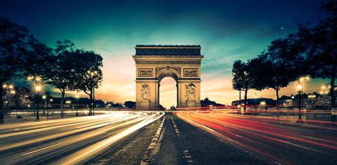 Printed roller blinds Paris Arc de Triomphe Paris France