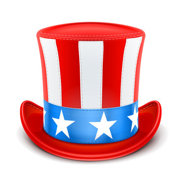 usa top hat for independence day vector illustration isolated