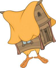 Hut on chicken legs cartoon