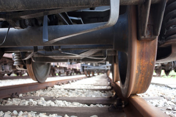 train wheel and rail