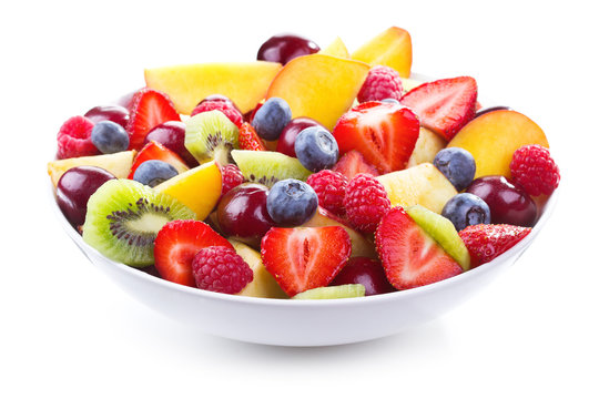 salad with fresh fruits and berries