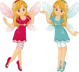 Pink fairies blue
