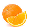 Whole orange fruit and his segment or cantle