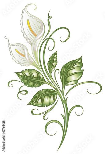 calla lilie lilly ranke flora blume bl te stockfotos und lizenzfreie vektoren auf. Black Bedroom Furniture Sets. Home Design Ideas