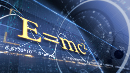 PHYSICS, SCIENCE. ABSTRACT BACKGROUND. E=mc2