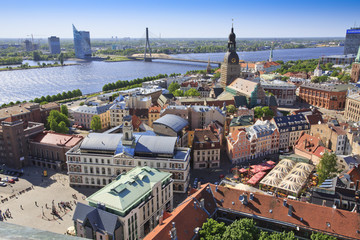 View of Riga towards Vansu Tilts bridge