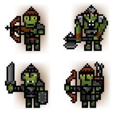 Wall Murals Pixel pixel ork soldiers
