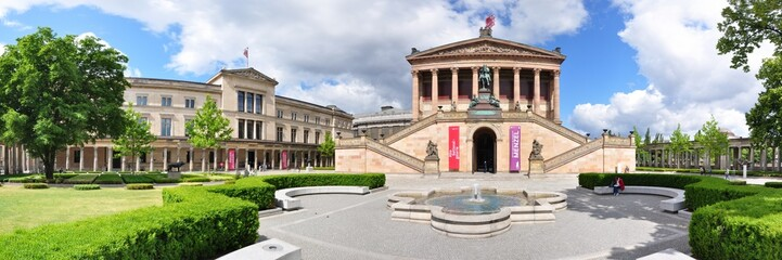 Poster Berlin Panoramafoto Berlin, Neues Museum & Alte Nationalgalerie
