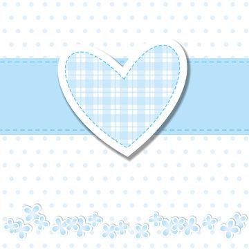 baby shower - bimbo - cuore azzurro