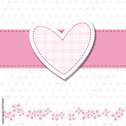 Baby Shower Bimba Cuore Rosa Stock Image And Royalty Free
