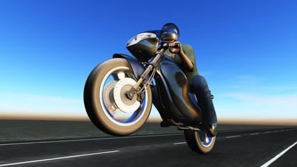 Keuken foto achterwand Motorfiets ライダー