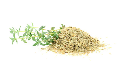 Fresh and dry thyme