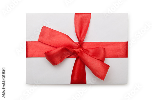 """Envelope with colourful ribbon on white"" Stok Gorseller ve Telifsiz gorseller Fotolia.com 'da - Fotograf 42789241"