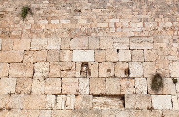Israel. The Jerusalem wailing wall