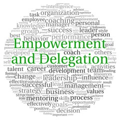 Empowerment and Delegation concept in word tag cloud