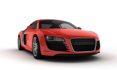 Self adhesive Wall Murals Fast cars red sportscar